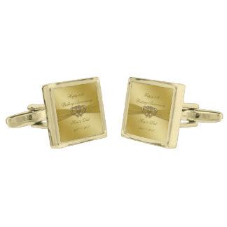 Klassieke Gouden 50ste Cufflinks van het Jubileum Vergulde Manchetknopen