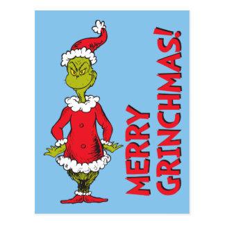 Klassieke Grinch de   Kerstman Briefkaart