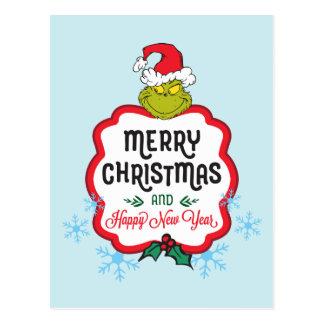 Klassieke Grinch | Vrolijke Kerstmis & Gelukkig Briefkaart