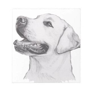 Klassieke het profielTekening van de Hond van de Notitieblok