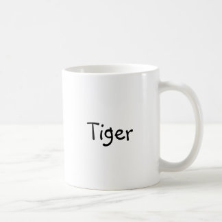 """Klassieke koffiemok met """"Tijger """" Basic Witte Mok"""
