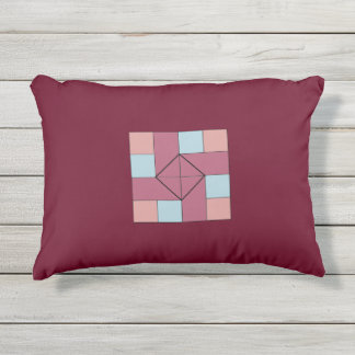 Klassieke Oh Susanna Quilt Pattern Outdoor Pillow Buitenkussen