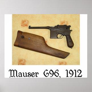klassieke pistolen - Mauser C96 Poster