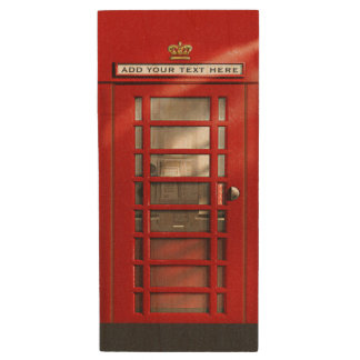 Klassieke Rode Britse Telefooncel Houten USB 3.0 Stick