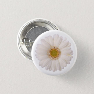 Klassieke Witte Gerbera Daisy Flower Ronde Button 3,2 Cm