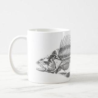 Klassieke Zoölogische Ets - het Skelet van Vissen Koffiemok