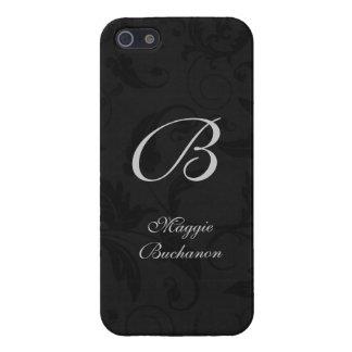 Klassieke Zwarte in een Druk van het Damast met iPhone 5 Covers
