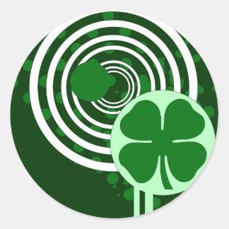 klaver hifibellen ronde sticker