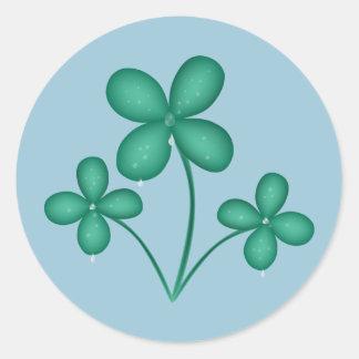 Klaver in de St Patrick van de Regen Stickers van