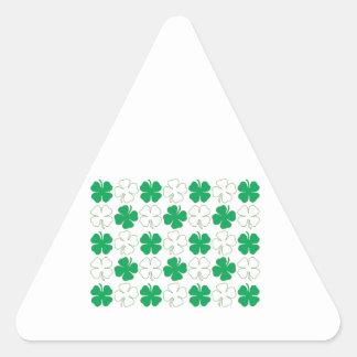 Klavers Driehoekvormige Stickers