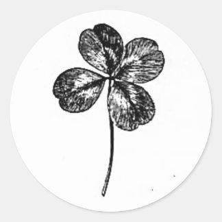 klavertjevier ronde sticker