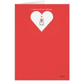 KLEIN DRAAG Valentijn door Boynton Kaart
