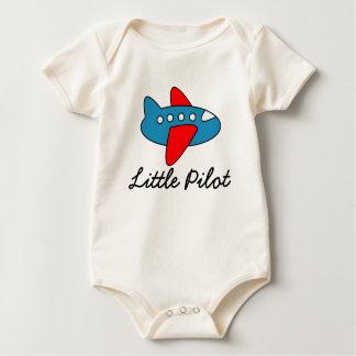 Klein proefbaby jumpsuit met vliegtuigcartoon baby shirt