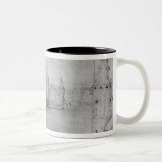 Klein versterkt eiland, Amsterdam, 1562 Tweekleurige Koffiemok