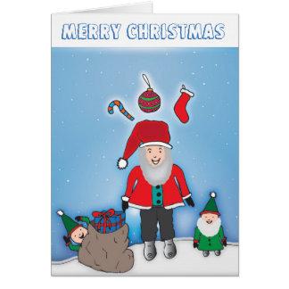 Kleine de helperskaart van de kerstman wenskaart