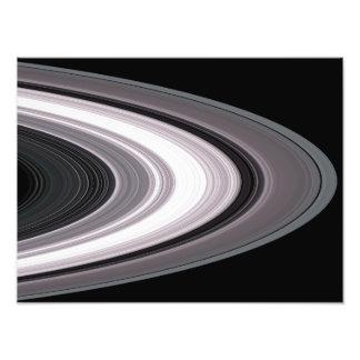Kleine Deeltjes in de Ringen van Saturnï¿ ½ s Fotoprints