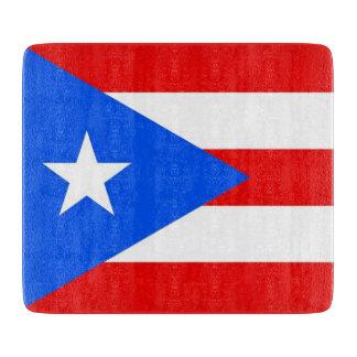 Kleine glassnijdenraad met de vlag van Puerto Rico Snijplank