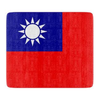 Kleine glassnijdenraad met de vlag van Taiwan Snijplank