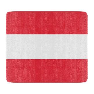 Kleine glassnijdenraad met vlag van Oostenrijk Snijplank