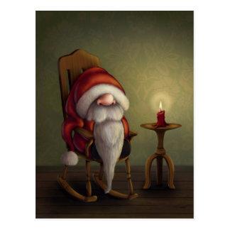 Kleine Kerstman in zijn schommelstoel Briefkaart