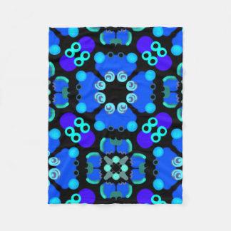 Kleine pool- blauw en zwarte dekking fleece deken