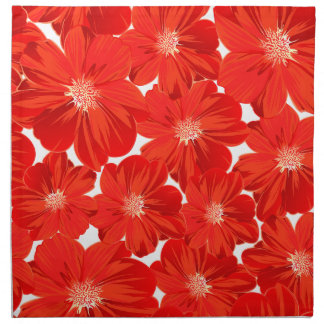 Kleine rode bloemen servet