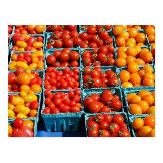 Kleine Rode en Oranje Tomaten Briefkaart