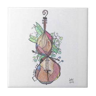 kleine tegel:  cello tegeltje