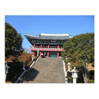 Kleine Tempel over Treden, Jeju Briefkaart