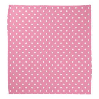 Kleine Witte Stippen op heet roze Bandana