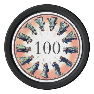 Kleur 100 van de Wacht van de Kaart van de Dansers