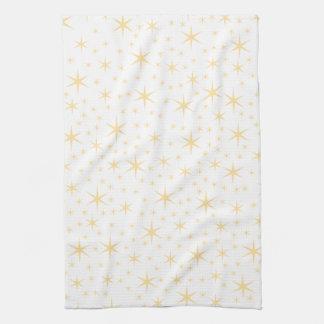 Kleur de van het Patroon van de ster Witte en Niet Keukenhanddoeken