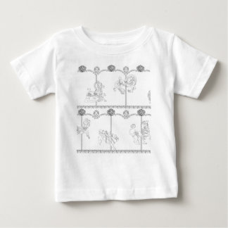 Kleur me Carrousel Baby T Shirts