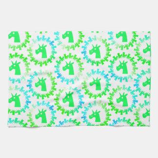 Kleur me Groene Eenhoorn Keuken Handdoeken