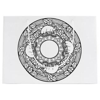 Kleur Uw Eigen het Kleuren Dieren van Mandala van Groot Cadeauzakje