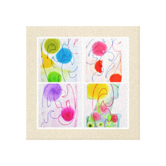 Kleuren en lijnen canvas afdruk