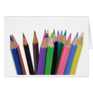 kleuren potloden kaart