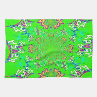 Kleuren van het het damastontwerp van de samba de keuken handdoeken