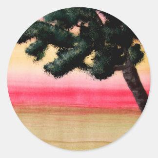 Kleuren van het Leven Ronde Sticker