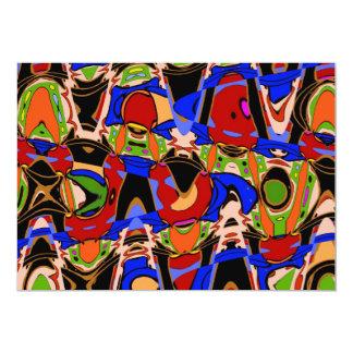 Kleuren van Kubisme 12,7x17,8 Uitnodiging Kaart