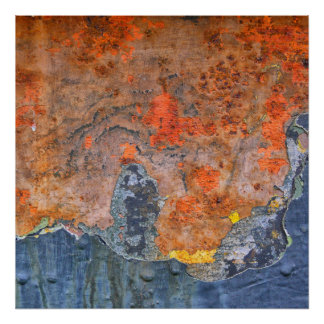 Kleuren van Roest 065, roest-Kunst Poster