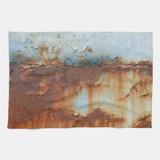 Kleuren van Rust_756, roest-Kunst Theedoek