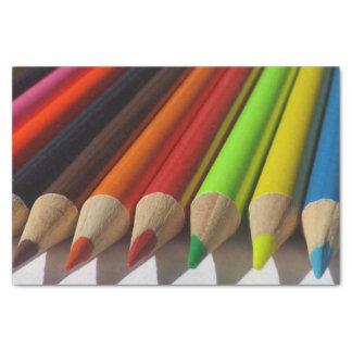 Kleurpotloden Tissuepapier