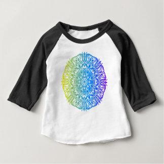 Kleurrijk abstract etnisch bloemenmandalaontwerp baby t shirts