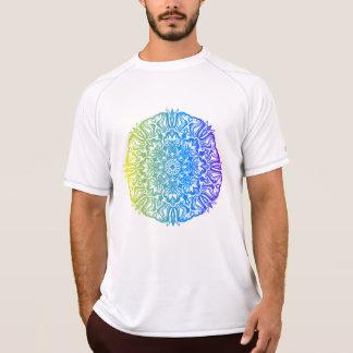 Kleurrijk abstract etnisch bloemenmandalaontwerp t shirt