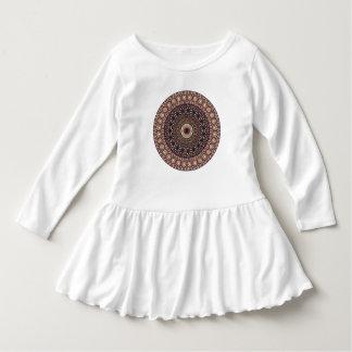 Kleurrijk abstract etnisch bloemenmandalapatroon baby jurk