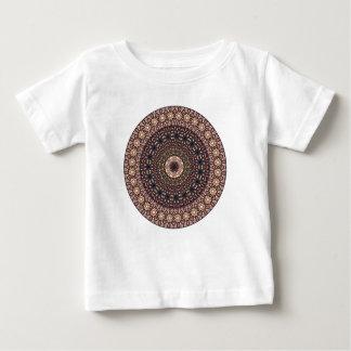 Kleurrijk abstract etnisch bloemenmandalapatroon baby t shirts