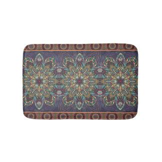 Kleurrijk abstract etnisch bloemenmandalapatroon badmat