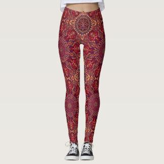 Kleurrijk abstract etnisch bloemenmandalapatroon leggings