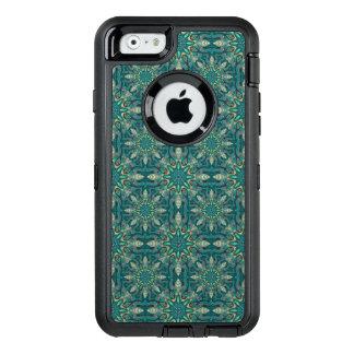 Kleurrijk abstract etnisch bloemenmandalapatroon OtterBox defender iPhone hoesje